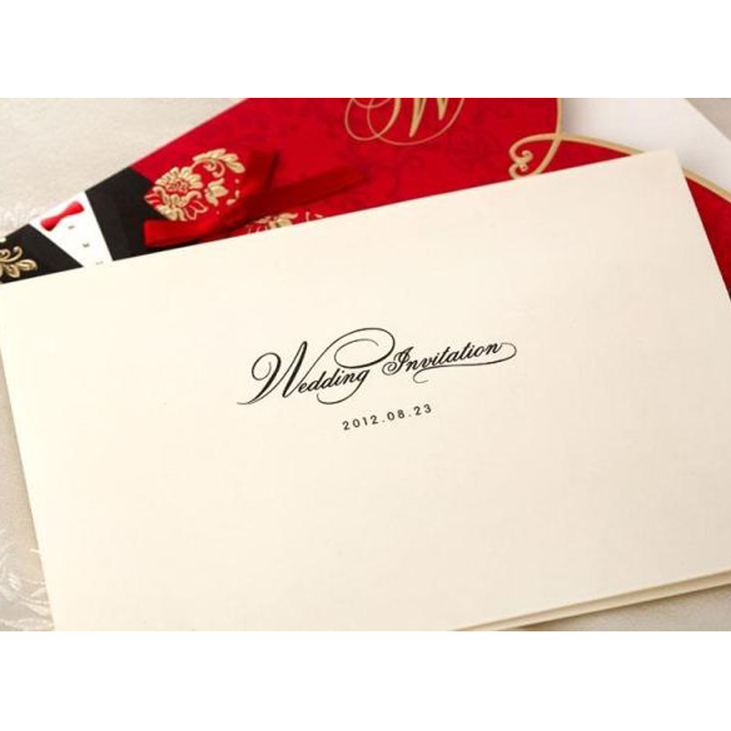 10 pieces/lot) New Classic Bride And Groom Wedding Invitation Cards ...