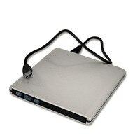 Super Slim Design USB 3 0 Aluminum Alloy External DVD Enclosure DVD Recorder Writer Burner Computer