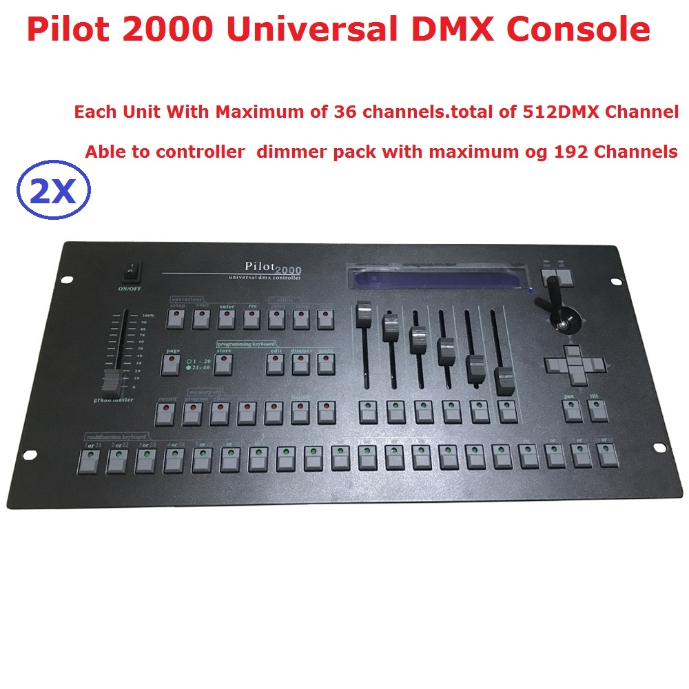 2XLot Pilot 2000 DMX Controller Stage Lighting DJ Equipments DMX Console For LED Par Moving Head Spot Lights Disco Controller 8 pieces lot safety cable stainless steel wire diameter 4mm length 800mm for stage lights moving head par light dj lighting