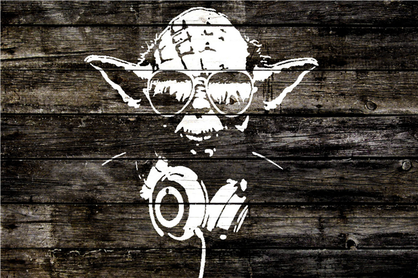 Custom Star Wars Poster Master Yoda Sticker Wood Graffiti Mural