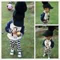 Caliente-venta de niños pingüino patrón de los niños del bebé top fleece sudaderas con capucha bebé ropa de los muchachos embroma la ropa 2016 otoño invierno