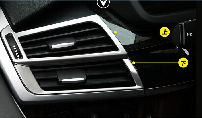 For BMW X5 F15 2014 2015 Car 4pcs/ Set Car styling Inner Side Air Conditioner Vent Outlet Cover Trim Matte Stainless Steel 2 pcs set stainless steel car air vent circle trim air conditioner protection sticker for kia sportage kx5 ql 2016 2017 parts