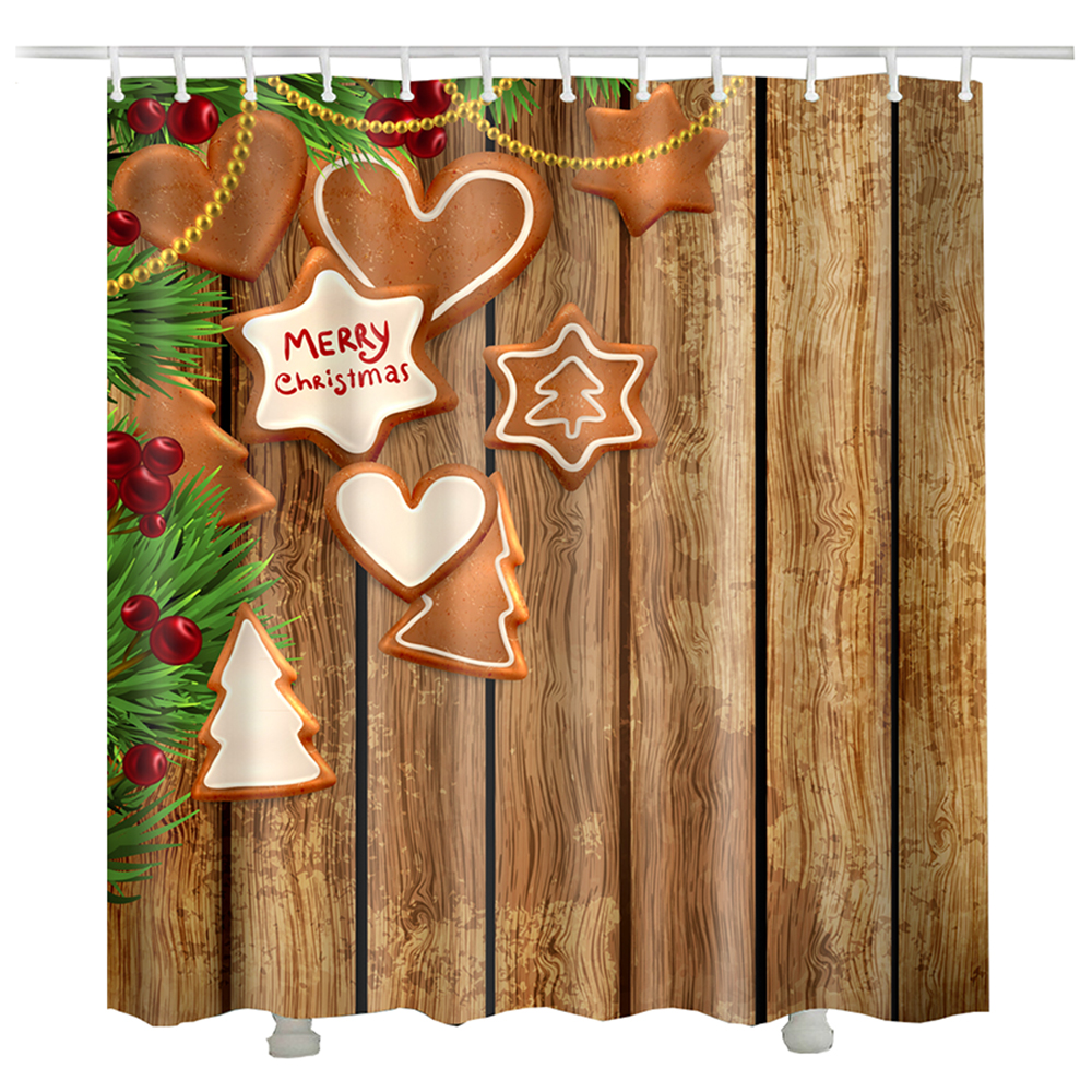 Christmas Snow Tree Bells shower curtain douche gordijnen bath curtain bathroom autumn christmas shower curtains