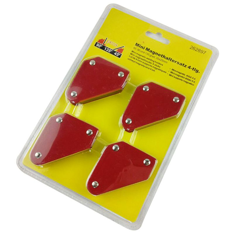 Hot Sale 4 Pcs/set Mini Triangle-Welding Positioner 9Lb Magnetic Fixed Angle Soldering Locator Tools Without Switch Welding Ac