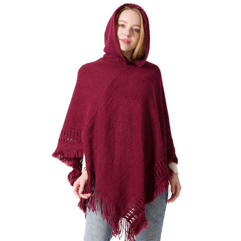 fecf182729e29 New Fashion Ladies Winter Scarf Blanket Quality Women Ponchos Capes Long  Knit Thick Women Shawls(