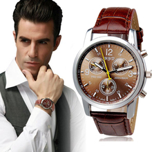 Excelente Calidad de La Manera Ocasional de Lujo Serie de la Marca de Los Hombres Reloj de Ginebra Relojes de Cuarzo Deporte de Los Hombres de Negocios Vestido Reloj Regalo de Ventas