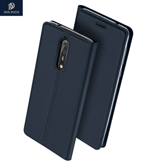 on sale 64f29 99e35 US $9.99 |For Nokia 8 Case DUX DUCIS Original Luxury Flip Wallet Leather  Cover For Nokia 8 Nokia8 Case TA 1012 Coque Funda-in Flip Cases from ...