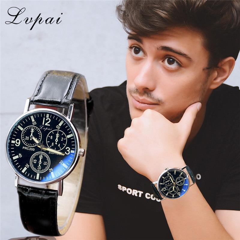 все цены на 2018 Leather Band Watches Men Top Brand Relogio Masculino 2018 NEW Mens Sports Clock Analog Quartz Wrist Watches Hot Sales 40 онлайн