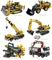 20004 20005 20006 20007 20008 20015 LP serie técnica de Ciencia y Tecnología de Maquinaria de montaje bloques de construcción de juguete niño juguetes de regalo
