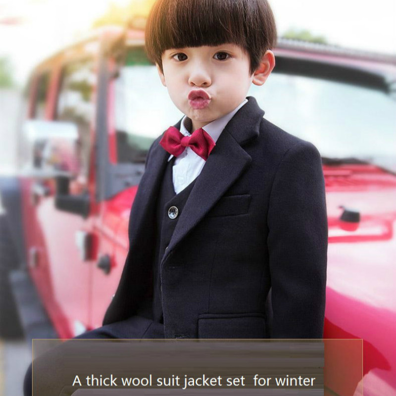 op quality boy winter suit,child formal dress for 100-160cm tall boy,jacket+vast+shirt+bow+Pant,5 pcs per set free shipping! dakine tall boy