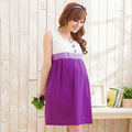 Wholesale Summer Pregnant Women Clothing Sleeveless Maternity Dress Loose Casual Patchwork Pregnancy Dresses Free Size