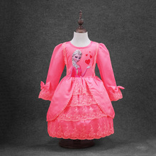 Hot!!!!!Autumn Hot Style Girls Princess Long Sleeve Lace Dress Size 3 To 7 Years Old  Free Postage