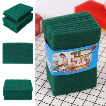 20 Pcs Green Sponge Kitchen Bowl Dishwash Wash Clean Scrub Cleansing Pads