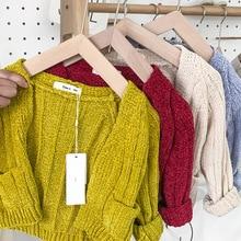 Baby Girls knit cardigan age 1 2 3 4 year toddler kids sweater casual loose warm cardigan autumn infant baby boys girls knitwear