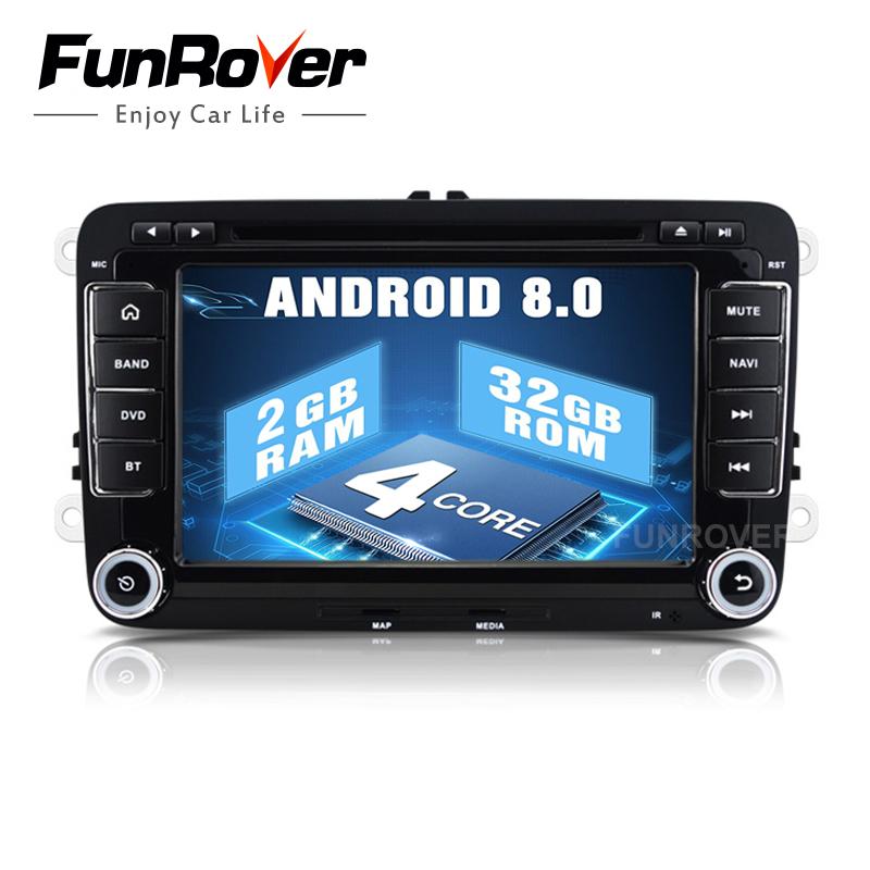Funrover 2 din 7 Car DVD player VW JETTA rns510 PASSAT B6 GOLF 5 6 CC
