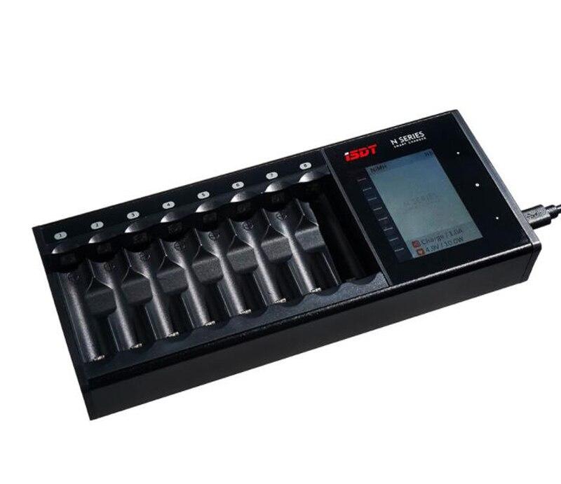 LiIon/LiHv/Vie/NiMh/NiCd/NiZn Batterie De Charge Hub D'ISDT PORTANT SUR la N8 Multi-canal AAA AA Batterie LCD Affichage Smart batterie Chargeur Rapide