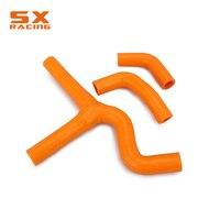 Motorcycle Orange Water Pipe Silicone Radiator Coolant Hose For KTM SX450 SX525 EXC450 EXC525 MXC450 MXC525 2003 2006 Dirt Bike