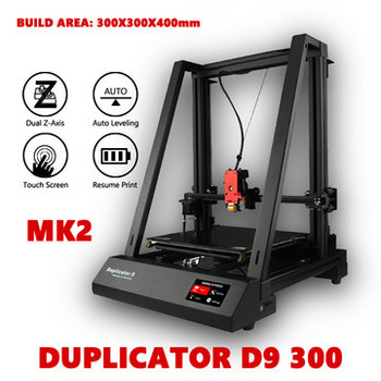 Wanhao Duplicator 9 (D9 400) MK2 3D Printer Machine With RIB & BL Touch Auto Leveling Build Size 400*400*400mm