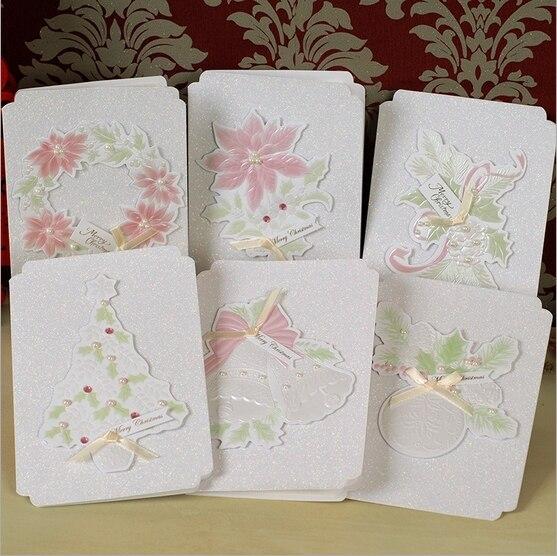 Elegant christmas emboss greeting card pearl christmas card set of elegant christmas emboss greeting card pearl christmas card set of 6 on aliexpress alibaba group m4hsunfo