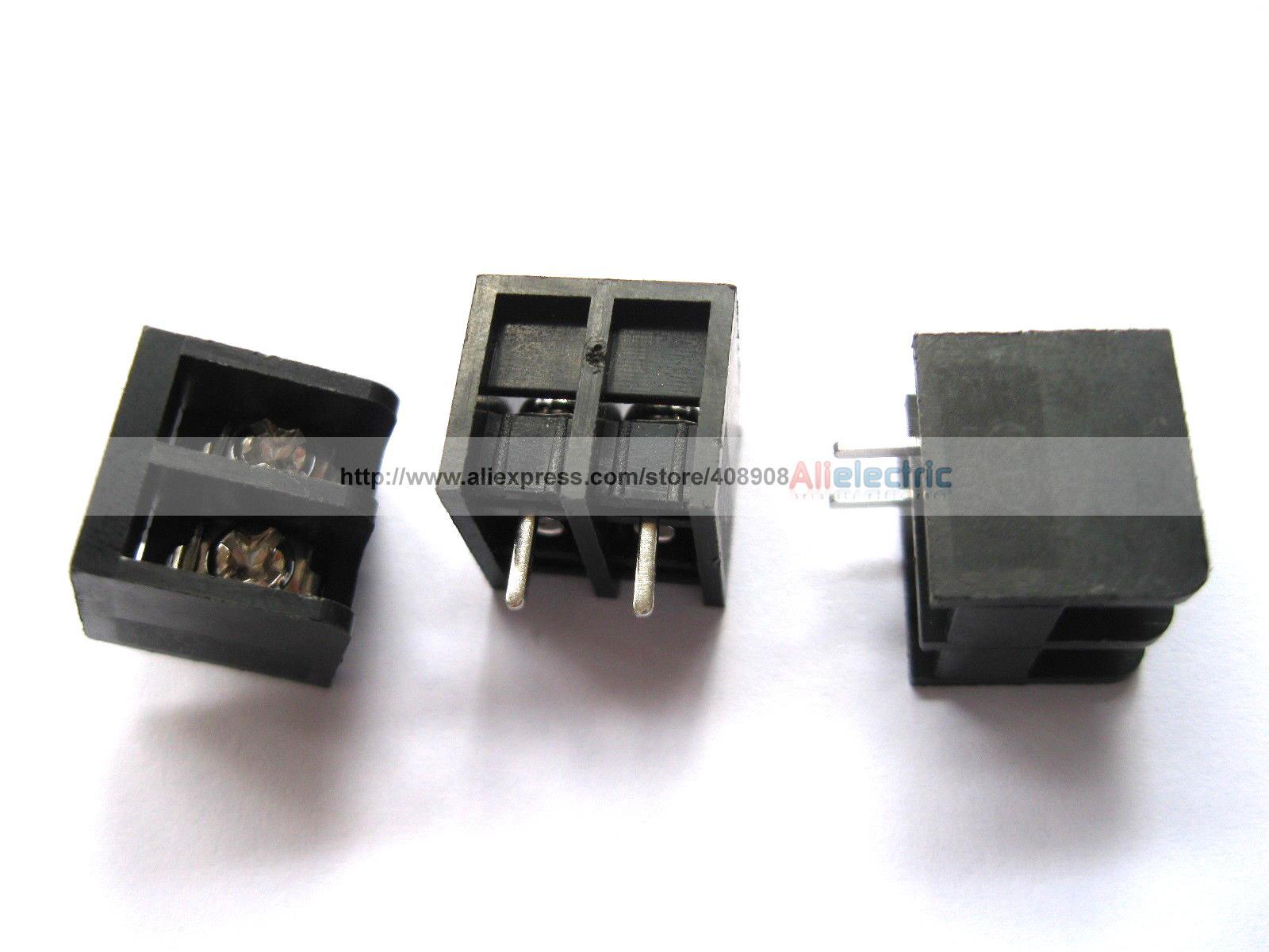 150 Pcs Black 2 Pin 8.25mm Screw Terminal Block Connector Barrier Type DC39B