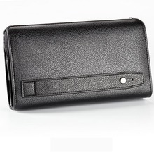 Baellerry Wallet Men Luxury Long Purse Large Men Wallets with Coin Pocket Double Zipper Business Card Holders Male Clutch W243
