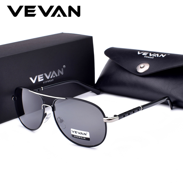 1672d19c7b38a VEVAN 2018 High Quality Classic Pilot Polarized Sunglasses Men UV400 Luxury Brand  Driving Sun Glasses oculos
