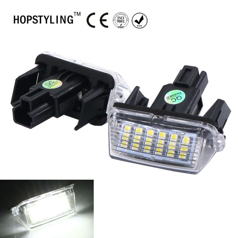 2PCS Error Free Camry 18SMD LED License Plate Light For Toyota Ractis Yaris Corolla Prius Verso S HOPSTYLING t10 194 w5w canbus car parking light for toyota corolla avensis yaris rav4 auris hilux prius camry 40 celica supra prado verso