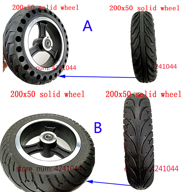 200x50 Electric Scooter solid Tyre With Wheel Hub 8 Scooter tire Aluminium Alloy rims solid Tire