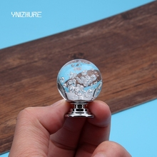 30mm Transparent Crystal Glass Bubble Ball Handle Dresser Drawer Cabinet Wardrobe Pull Handle Kitchen Bedroom Furniture Knobs