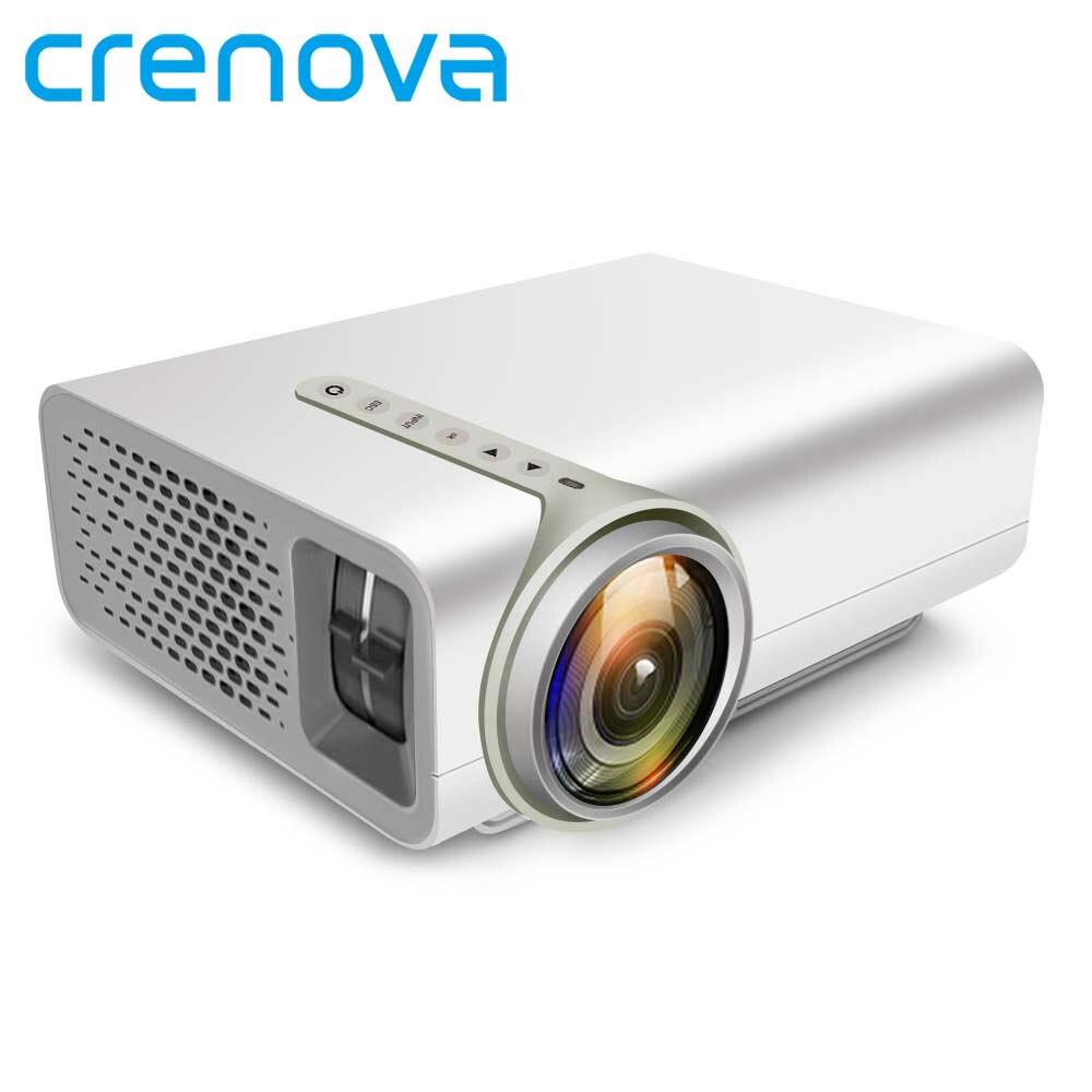 CRENOVA LED Projecteur Pour Full HD 1920*1080 p Pour Home Cinéma Projecteurs Proyector Connexion Téléphone Intelligent Via USB câble de données