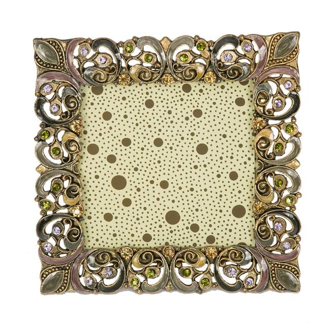 New 2016 MT flower Wedding gift luxury square European style frame ...