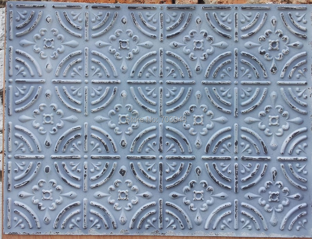 Embassy And Wall Design Ceiling Tiles : Plb faux tin ancient artistic antiqued ceiling tiles d