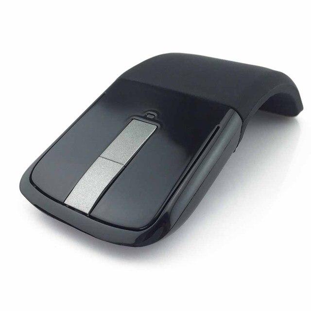 2,4 Ghz ratón inalámbrico plegable arco táctil Delgado ratón ordenador Gaming Mouse ratones para Microsoft Surface PC ordenador portátil