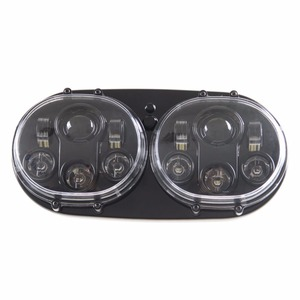 Image 3 - DOT Approved 90W Dual LED Headlights Projector with High/Low Beam For Harley motorcycle Motocycle Road Glide 2004 2013