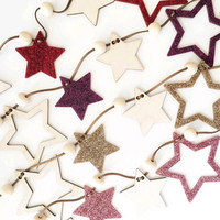 Nordic Style Hanging Decoration Cute Star Shape Wooden Balls Kids Room Wall Hanging Ornament 18092203