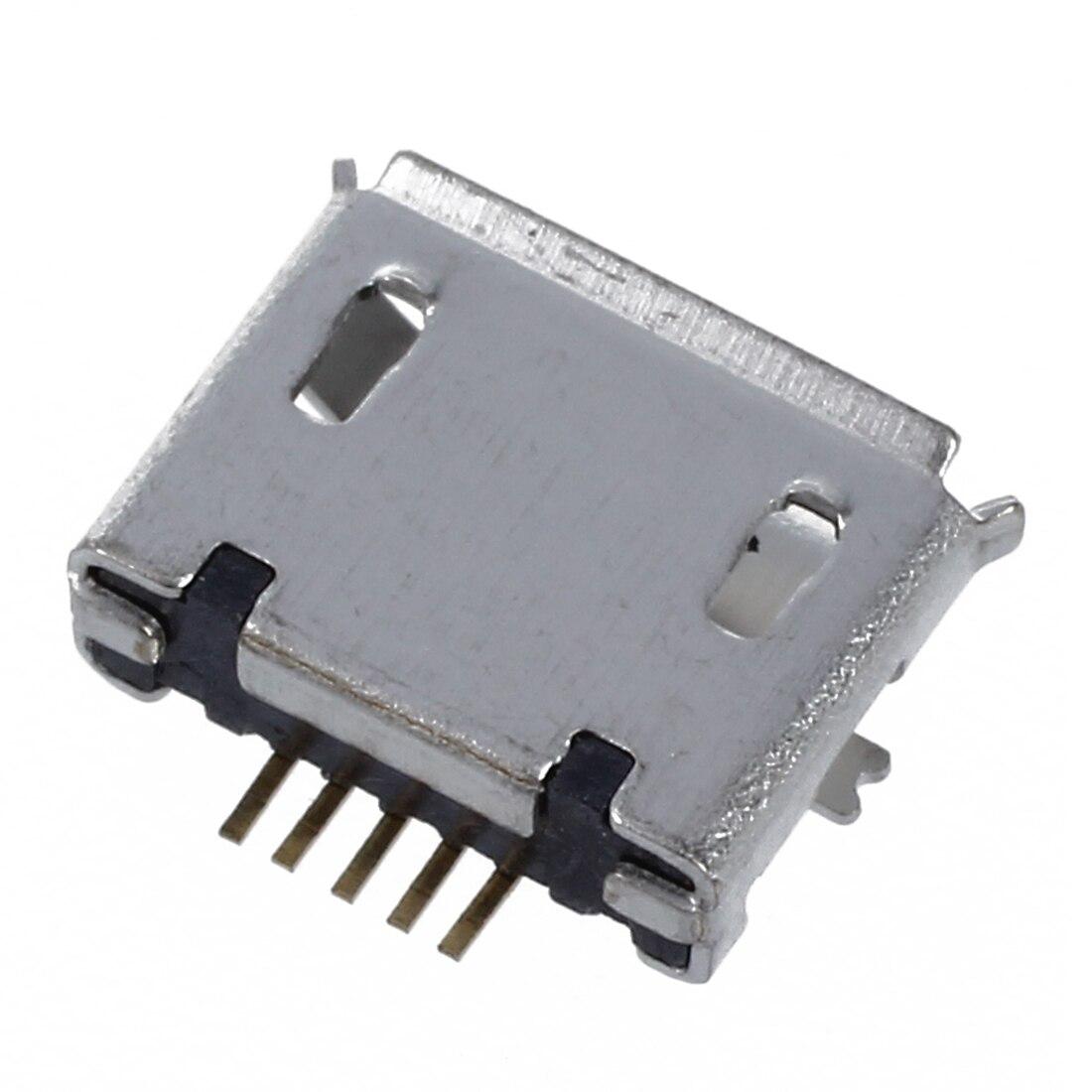 30 x cell type B Mini USB connector 5 pin jack port socket silver