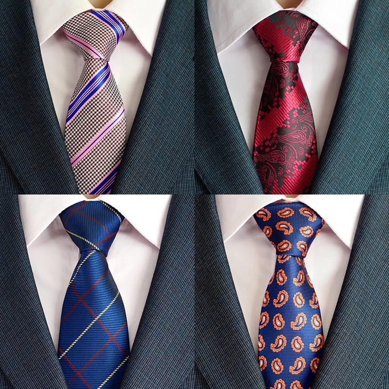 New Arrivel Paisley Ties For Men Classic Silk Jacquard Weave Wedding Neck Ties Business Neckties 8cm Corbatas Hombre 2016