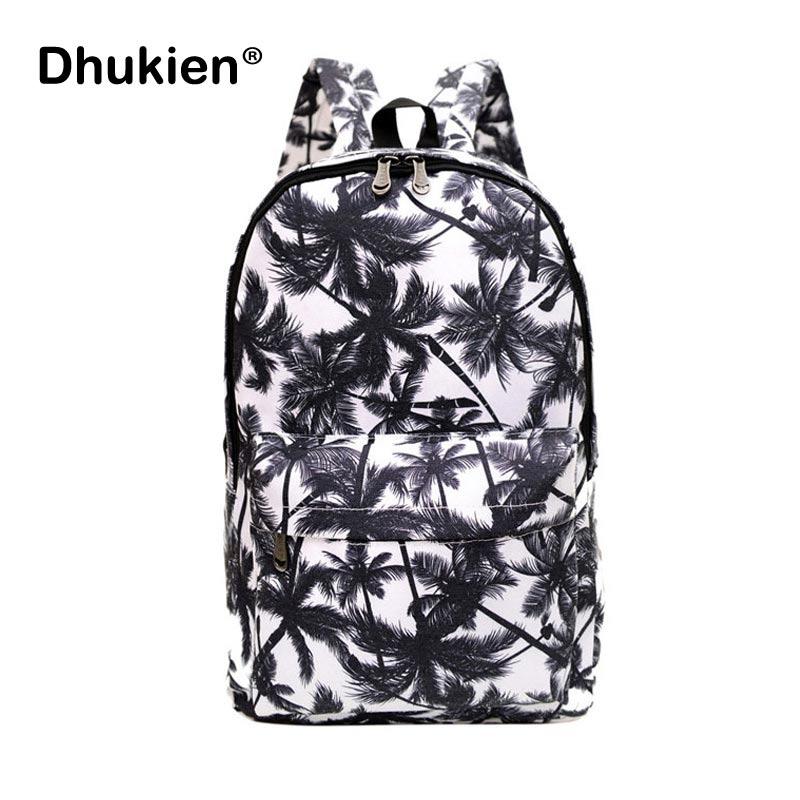 Mens Graffiti Backpack Women Canvas Printing Backpack Casual School Bags for Teenager Girls Palm Tree Bag Mochila Feminina pabojoe women mens school backpack italian 100