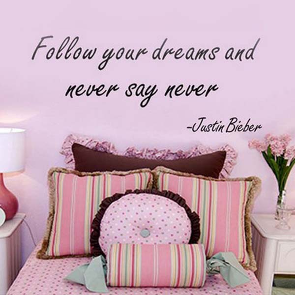 Follow your dreams Wall Art Stickers Wallpaper wall decorations ...