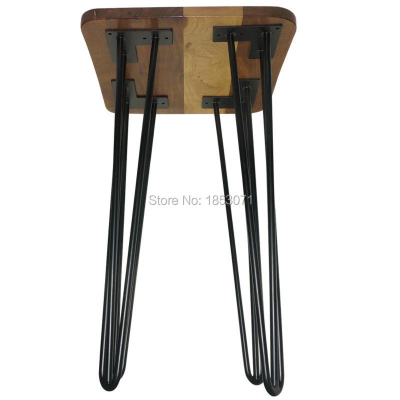 livraison gratuite 24 epingle a cheveux jambes mat noir ensemble de 4 pieds de table a manger table en fer jambes decoration pieds de meubles en metal