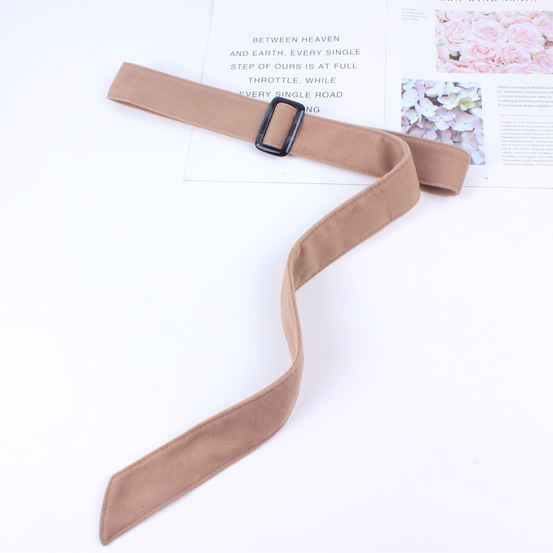 Fashion Wide Waist Woollen Belts Women Ladies Solid Ribbon Knot Rope For Overcoat Strap Ceinture Femme