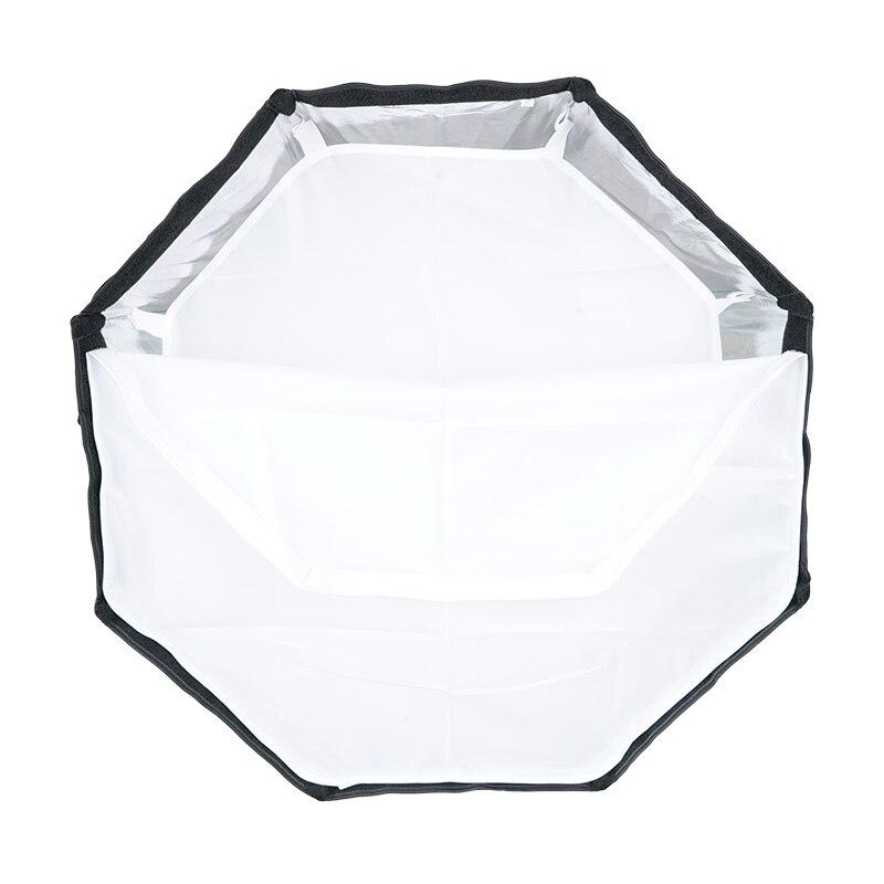 TRIOPO 55cm portátil al aire libre Octagon Softbox paraguas para Godox V860II TT600 TT685 YN560 III IV TR-988 Flash Speedlite caja suave - 5