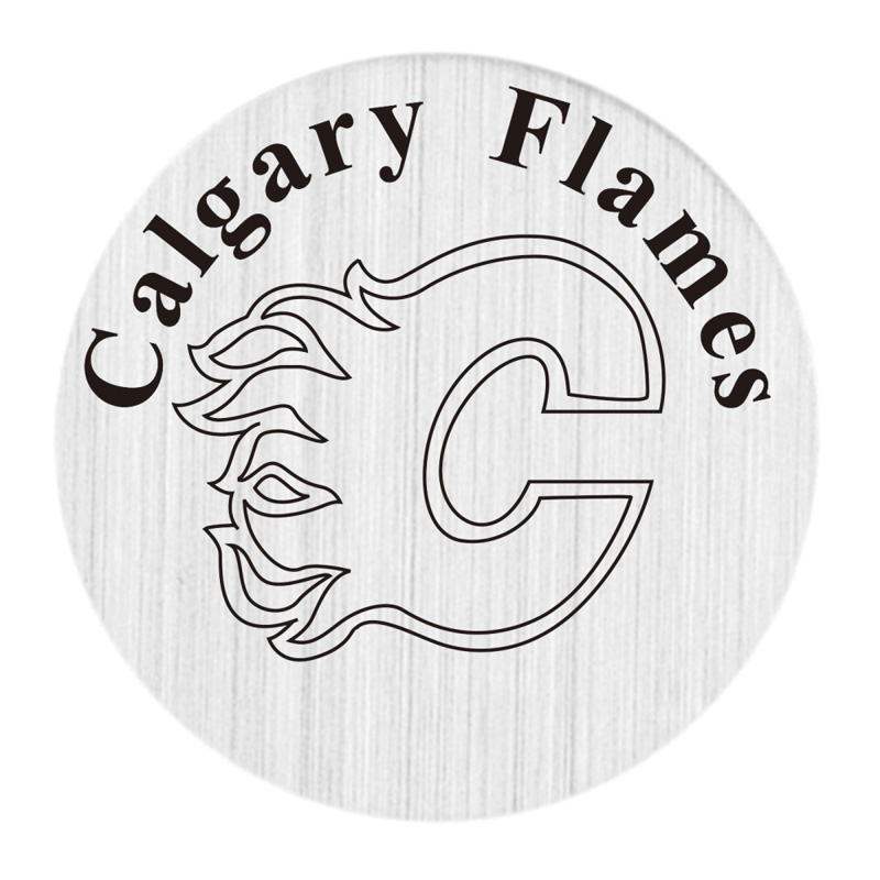 Calgary Flames 22mm Stainless Steel Floating Locket Plate NHL Floating Charms Fit 30mm Living Glass Lockets 20pcs/lot