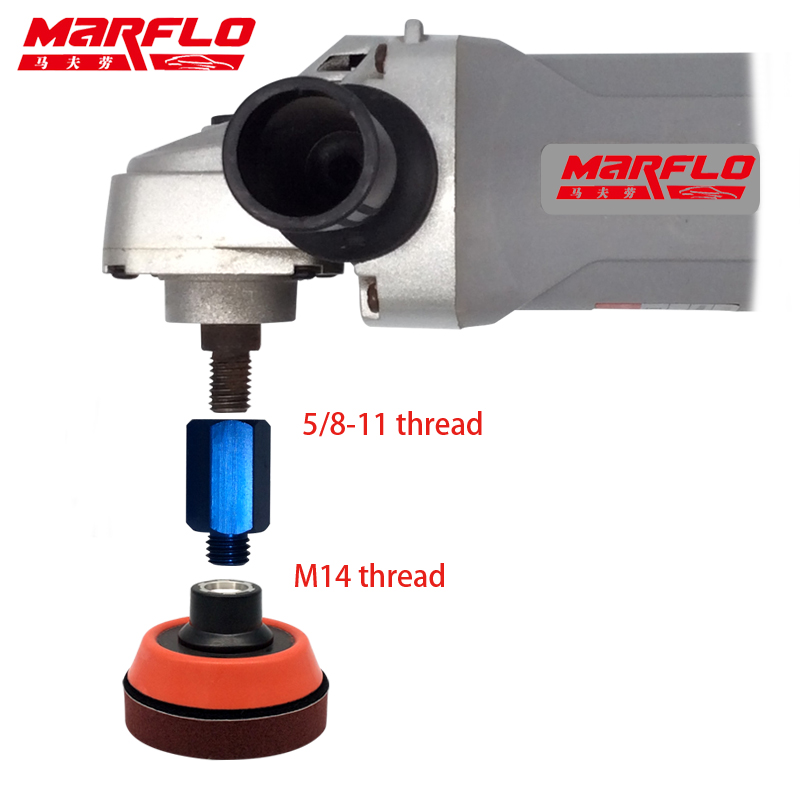 MARFLO Plate Pad Polisher With A M14 M16 5/8-11 Thread Bar For Polishing Machine Sponge Polishing Pad
