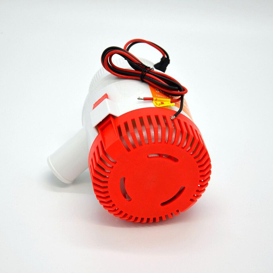 Pompe à eau électrique 3000GPH pour bateaux, pompe à eau submersible de bateau pompe de cale de grand débit dc 12 v/24 v avec le commutateur de flotteur de cale - 4