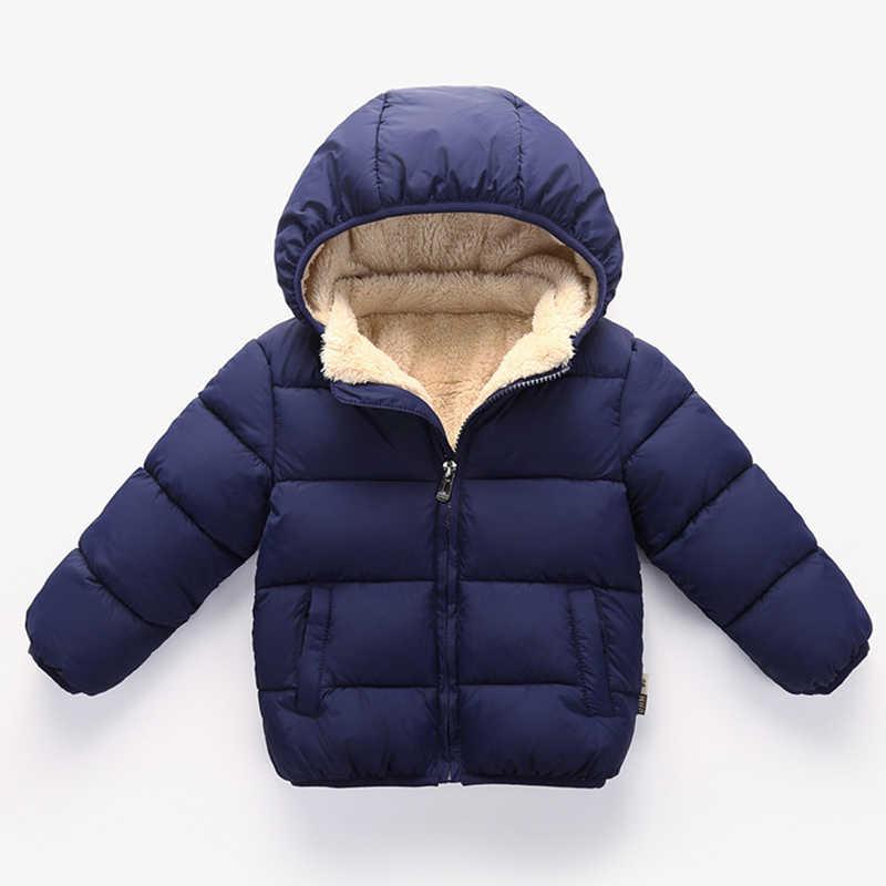 תינוק נערי מעיל החורף עבה מעילי ילד בני חם צמר הלבשה עליונה עבור בנות פרווה ברדס מעיל ילדי בגדים 12 3 4 שנים