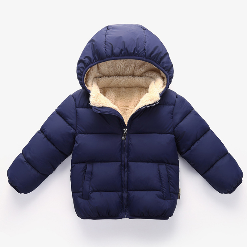 LSERVER Kids Jacket Thickening Girl Winter Clothes Wool Coat