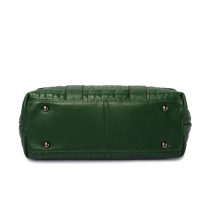 패션 악어 패턴 여성 가방 정품 가죽 어깨 메신저 가방 대용량 탑 핸들 가방 핸드백 여성-에서탑 핸드백부터 수화물 & 가방 의  그룹 2