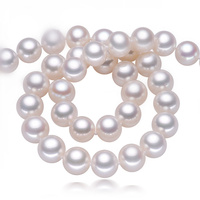 Первое шоу шарм высокий блеск колье ожерелье 9 10 мм жемчужные ювелирные изделия, 925 стерлингового серебра ювелирные изделия, модные ожерелья