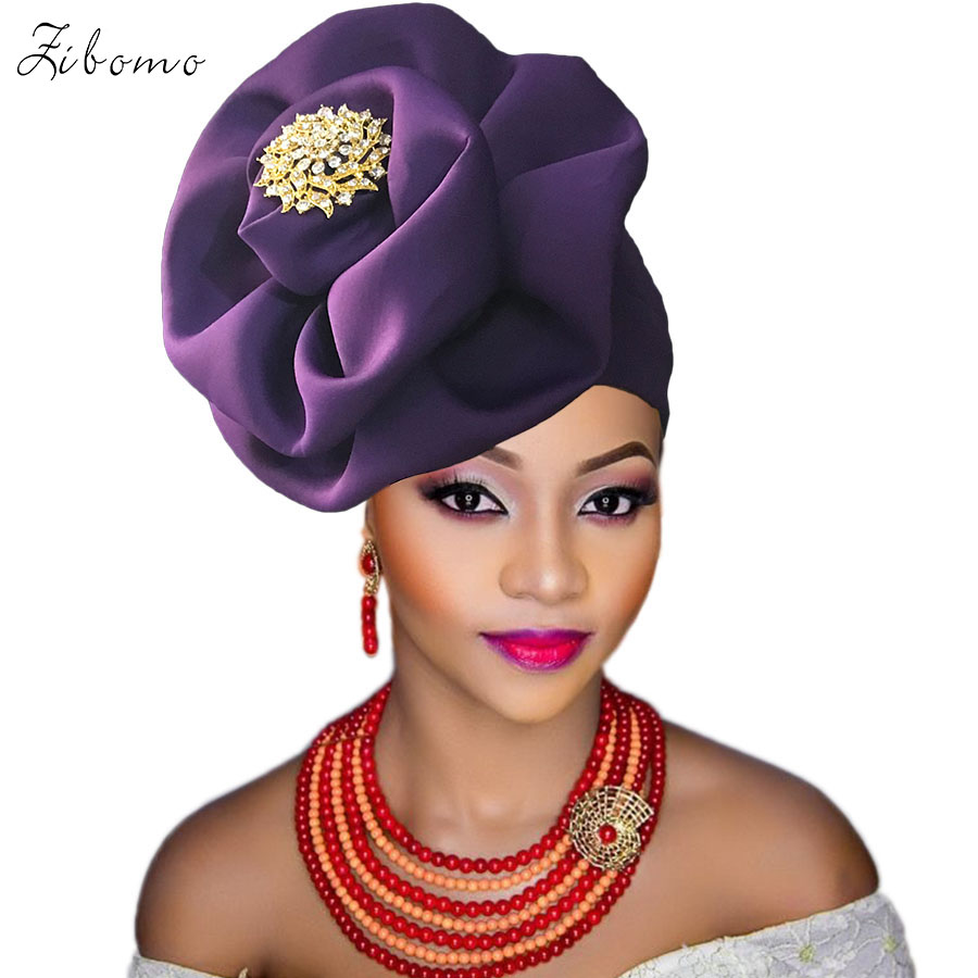 Turban headtie african turban cap aso oke gele ready to wear auto hele african lace auto gele aso ebi headtie 2018 new (6)